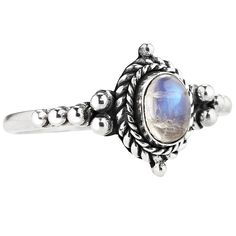 Luna Enchant White Howlite & Labradorite Ring