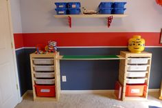 lego storage table ideas   Lego Storage and Play Table: An Easy IKEA Hack!