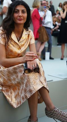 Giovanna Battaglia looks beautiful here