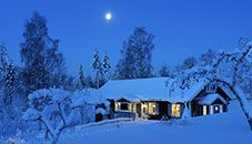 Country House in Winter (Dalarna, Sweden)