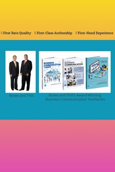 Bovee and Thill are known for their award-winning business communication textbooks. Business Writing, Textbook, Insight, Communication, Author, Student, Teaching, Gallery, Check