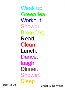 Dream Routine,A healthy breakfast,lunch and dinner is key