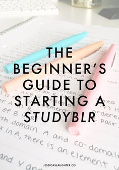 Starting my own studyblr was the best decision I've made this semester, and my grades are definitely showing it! Don't know what a studyblr is? I'll show you how to start one!