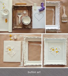 Button Art made by prop stylist Alicia Buszczak http://aliciabuszczak.4ormat.com  For @Hailey Phillips Correll room makeover