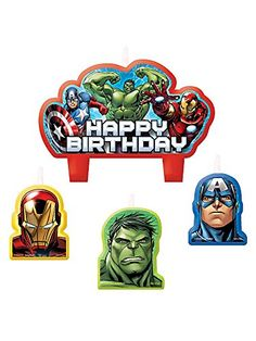 55% Off was $8.99, now is $4.05! Marvel The Avengers Assemble Mini Molded Birthday Candle Set
