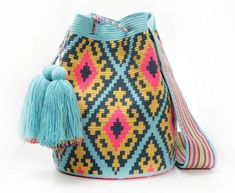 """New Cheap Bags. The location where building and construction meets style, beaded crochet is the act of using beads to decorate crocheted products. """"Crochet"""" is derived fro Bead Crochet, Filet Crochet, Mochila Crochet, Tapestry Crochet Patterns, Tapestry Bag, Granny Square Crochet Pattern, Boho Bags, Crochet Purses, Crochet Bags"""