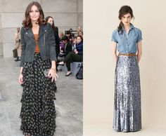 loving transitioning maxi skirts and dresses into fall
