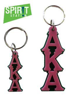 Alpha Kappa Alpha Acrylic Letter Keychain