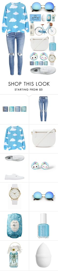 """Blue Skies"" by meaganmuffins on Polyvore featuring Drew DeRose, H&M, Forever 21, Vans, NLY Accessories, CASSETTE, Fresh, Essie and Cultural Intrigue"