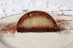 Dome chocolat et poire