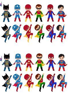 Party Pack–36x Super Hero Squad Superhelden Mix Esspapier Cup Cake Topper/Stand Up/: Amazon.de: Küche & Haushalt
