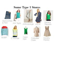"""""""Some Type 1 Stores"""" by expressingyourtruth on Polyvore. More type 1 jewelry at roxann7-.kitsylane.com"""