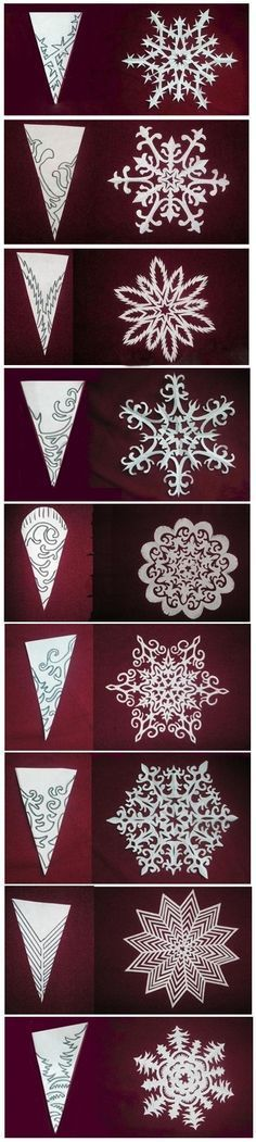 51 Ideas Origami Christmas Diy Snowflake Template – Welcome My World Holiday Crafts, Holiday Fun, Fun Crafts, Diy And Crafts, Crafts For Kids, Kirigami, Diy Paper, Paper Crafting, Christmas Art