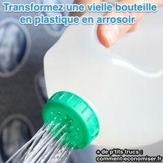 Arrosoir pas cher fabriqué avec une bouteille en plastique                                                                                                                                                                                 Plus
