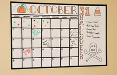 This will be perfect for coordinateing schedules with a roomate and keeping track of deadlines! DRY ERASE CALENDAR decal 39 x 25 on Etsy, $28.00
