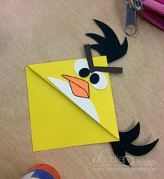 Angry Bird Book Mark Corners