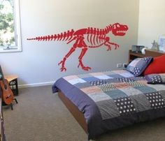 T Rex Dinosaur Skeleton Vinyl Wall Art Decal Sticker by decalfarm