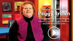 Marbles the Brain Store interviews toy/game inventor Peggy Brown.
