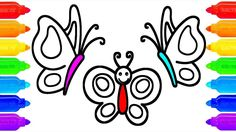 How to Draw Butterfly Coloring Pages | Art Colours for Kids