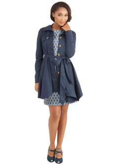 Just Called to Say Hyannis Coat in Navy. Call upon your nearest and dearest while clad in this classic navy trench from Jack by BB Dakota, and theyll be sure to comment on your chic style. #blue #modcloth