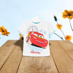 Fireball Beach Racer Car Short Sleeves  T- Shirt, Disney Cars, Short Sleeves, T Shirts For Women, Beach, How To Wear, Seaside