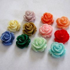 Gorgeous 15mm Medium Resin Detailed Rose by BeadFindingUtopia, $2.50