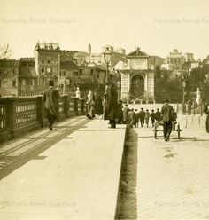 Ponte Sisto verso piazza Trilussa 1900