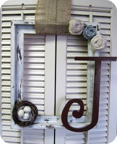 Cute frame wreath for Spring