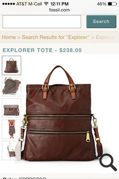 The perfect purse: Fossil explorer tote in espresso