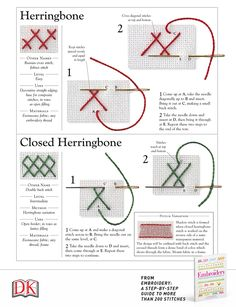 Currently obsessed with the herringbone stitch. Our Embroidery book is the perfect guide to needlework with over 200 stitches — with levels of difficulty, step-by-step instructions, and ideas on where and how to use them.