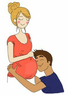 This is totally Brad, he's so excited! Pregnancy Images, Pregnancy Art, Pregnancy Cartoon, Pregnancy Drawing, Photo Humour, Pregnant Sleep, Love Cartoon Couple, Illustrations And Posters, Cute Illustration