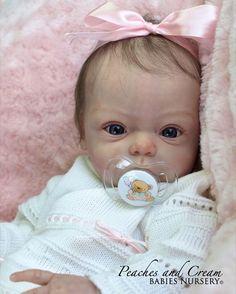 "Peaches and Cream N R ""Livia"" Gudrun Legler Now Reborn Baby Girl Hailey"