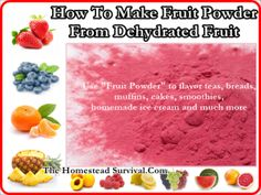 How To Make Fruit Powder From Dehydrated Fruit Homesteading - The Homestead Survival .Com