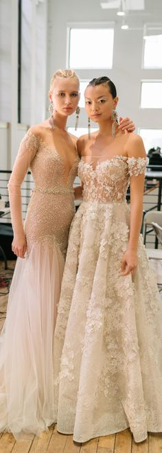 BTS from our recent S/S 2019 #BERTA runway show for NYBFW Beautiful Wedding Gowns, Beautiful Bride, Off Shoulder Wedding Dress, Berta Bridal, Bridal Dresses, Lace Dresses, Special Dresses, Celebrity Dresses, Bridal Style