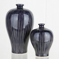 Ink Blue Meji Vases