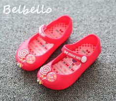 >> Click to Buy << Belbello Little Girls Jelly Shoes Children Kid Shoes Summer Sweet Lollipop Button High Quality Fashion Casual Soft Sole Shoes #Affiliate