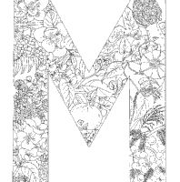 Plant Alphabet Letter M Coloring Pages Surfnetkids