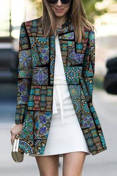 Product Fashion Printed Colour Long Sleeve coat Brand Name Chicokay SKU Gender Women Style Elegant /Fashion/Modern Type coat Material Polyester Fiber Decoration Pure Colour Please Note: All dimensions are measured manually with a deviation of 1 to Ärmelloser Mantel, Mode Mantel, Look Fashion, Winter Fashion, Womens Fashion, Funky Fashion, Cheap Fashion, Affordable Fashion, Fashion Styles