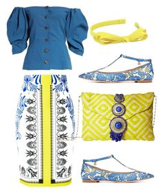 """"""":-)"""" by meriima-aljic ❤ liked on Polyvore featuring Sea, New York, Versace, Tory Burch, Steve Madden and L. Erickson"""