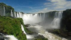 Located along the Iguazu River on the border between Brazil and Argentina, the Cataratas del Iguazú (as they're known in Spanish) feature more than 270 drops along their 1.7-mile-wide cliffs, which range in height from just under 200 feet to nearly 270 feet.