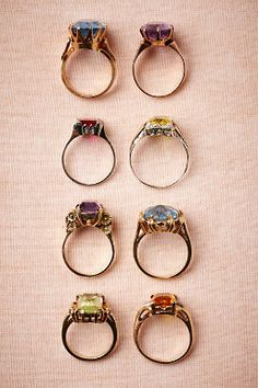vintage cocktail rings | #bhldn