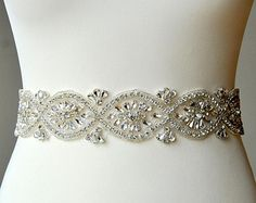 Custom Bridal Belt or Wedding Dress Sash by theyellowpeony on Etsy