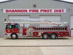 Shannon Illinois Fire Department - Ladder Apparatus #Setcom #Fire #Firetruck  http://setcomcorp.com/csbheadset.html