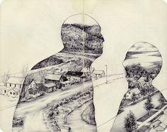 Los locos y geniales dibujos a boli de Pat Perry.                Pat Perry