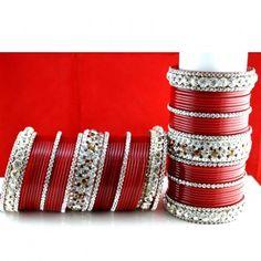 Traditional colors, but amazing. [SUHAG CHURA (PUNJABI CHURA) SIZE-2.4,2.6,2.8,2.10]
