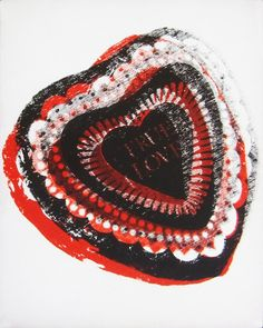 "museumuesum: "" ANDY WARHOL True Love, 1984 acrylic and silkscreen ink on canvas, 25 x 20 cm x 7 in) "" Pop Art Andy Warhol, Art Moderne, True Love, Crochet Earrings, Auction, 1984, Cubicle, Catalogue, Art"