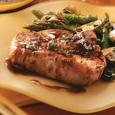 Maple Pork Chops - I didn't use coffee or Thyme and was excellent.  Hooked on using Maple Syrup with pork.