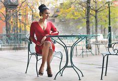 Miss America 2014 Nina Davuluri in a beautiful red Joseph Ribkoff dress in Toronto. #toronto #missamerica #missamerica2014 #josephribkoff #ninadavuluri
