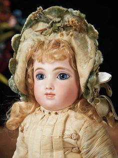 The Lifelong Collection of Berta Leon Hackney: 110 French Bisque Bebe A.T., Size 5, by Andre Thuillier with All-Wooden Articulated Body