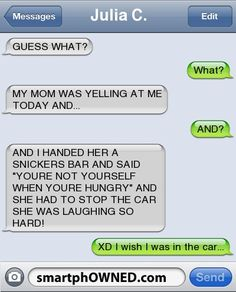 Everything Funny - Page 524 of 1040 - Updated Hourly! - Thousands of Funny Pictures, Funny Text Messages, Funny Memes, Quotes and More for Hours of Entertainment! Funny Shit, Funny Texts Jokes, Text Jokes, Epic Texts, Funny Stuff, Funny Text Fails, Funny Texts To Mom, Funny Things, Text Pranks